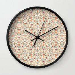 Birdsong Creme Smaller Pattern Wall Clock