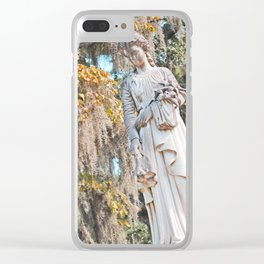 Graveyard Statue - AKA Weeping Angel Clear iPhone Case