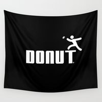 donut Wall Tapestries featuring Donut by Daniac Design