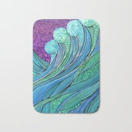 The Ocean In A Storm Bath Mat