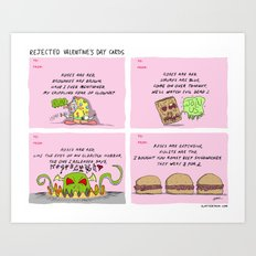 Rejected Valentine's Day Cards Art Print