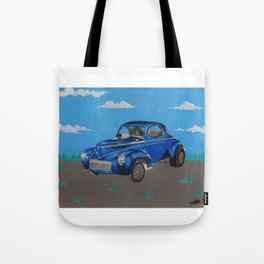 hot rod Willys Gasser Tote Bag