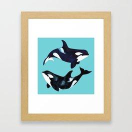 Orca Twins Framed Art Print