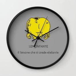 Lemonfante by Laura Pizzicalaluna Wall Clock