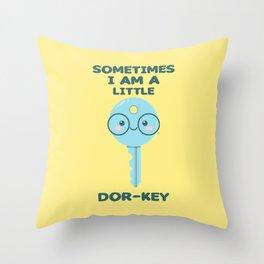 Dor-Key Throw Pillow