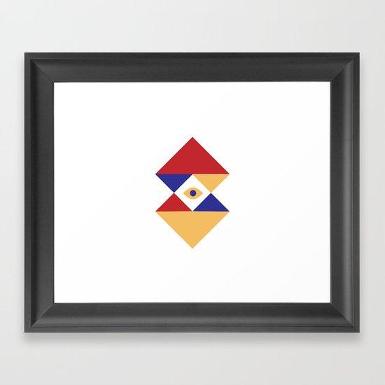T R I   Eye Framed Art Print