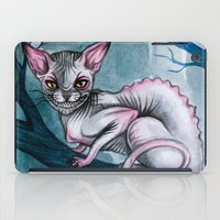 cheshire cat iPad Cases featuring Cheshire Cat by Black Fury