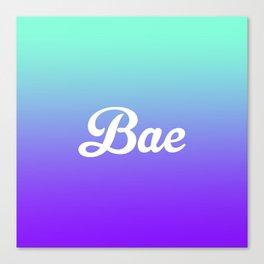 Bae Turquoise Purple Fade Print Canvas Print