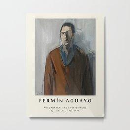 Poster-Fermin Aguayo-Autoportrait a la veste brune. Metal Print