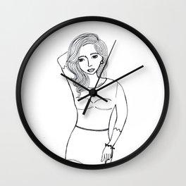 Pin Up Girl Wall Clock