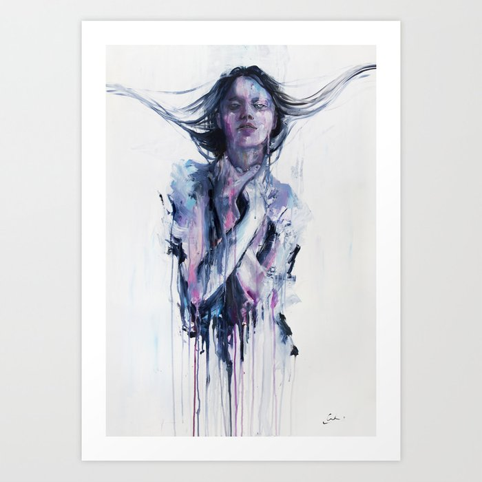 Discover the motif NON ERANO LE MIE MANI by Agnes Cecile as a print at TOPPOSTER