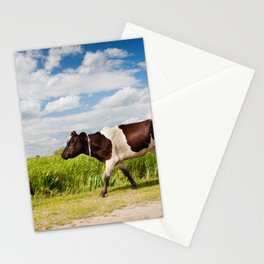 Calf walking in natural landscape Stationery Cards