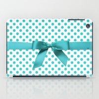 polkadot iPad Cases featuring Blue Tiffany Polkadot by albert Junior