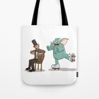 lincoln Tote Bags featuring Lincoln by The Drawbridge