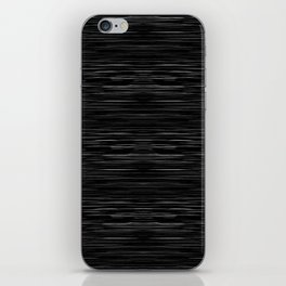 Meteor Stripes - Deep Black iPhone Skin