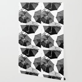 Black Umbrellas Wallpaper