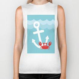 Anchor's Away Crab Biker Tank