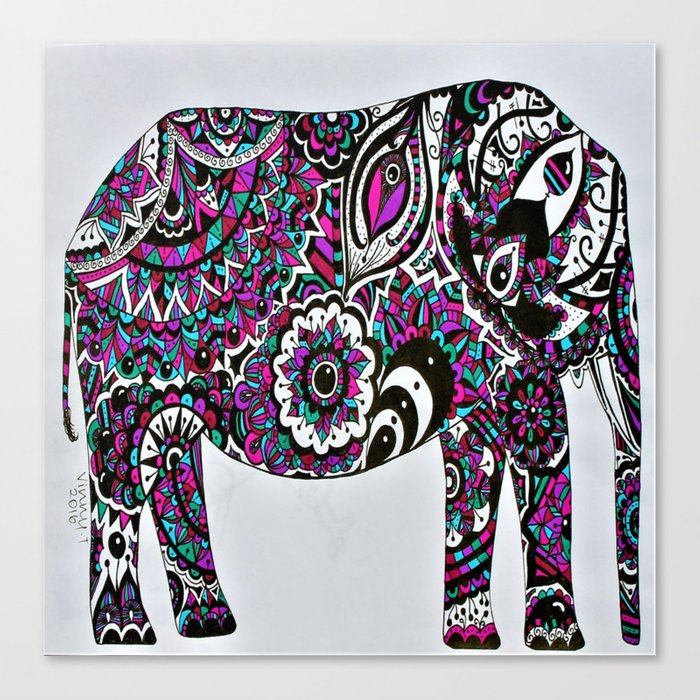 Elephant Head Mandala Vector Image