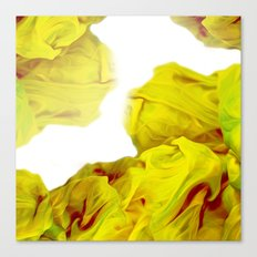 Yellow Ink Canvas Print