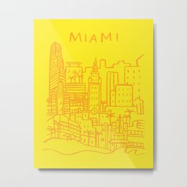 Miami Florida Metal Print