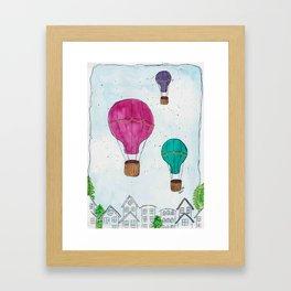 """""""Hot Air Balloon Ride"""" - Karla Leigh Wood Framed Art Print"""