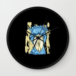 Shoebill Stork Blue Graphic Design Wall Clock