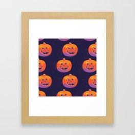 pumpkin with halloween Framed Art Print