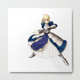 Fate/stay Night - Saber Metal Print