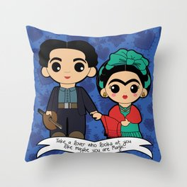 Frida and Diego Throw Pillow