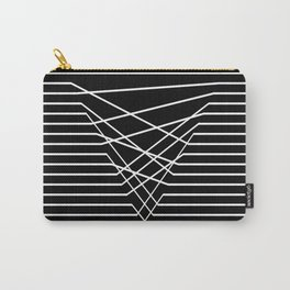 Line Complex Dark Triangle Carry-All Pouch