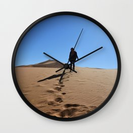 Lost in sahara Wall Clock