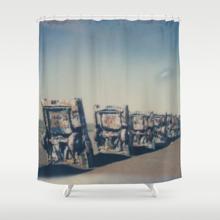 Cadillac Ranch - Route 66 Shower Curtain