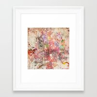 minneapolis Framed Art Prints featuring Minneapolis by MapMapMaps.Watercolors