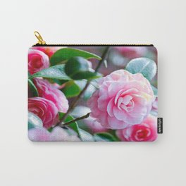 Pink Camelias Carry-All Pouch
