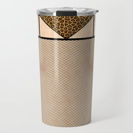 Fishnet Stockings and Leopard Skin Knickers Pale Skin Travel Mug