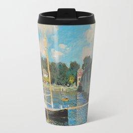 Monet - The Bridge at Argenteuil,1874 Travel Mug
