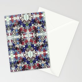 Red-White-Blue Crowded Garden Stationery Cards