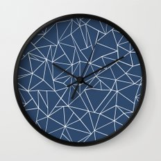 Abstraction Outline Navy Wall Clock