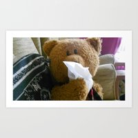 Art Print featuring Bear flu by Jackie Hickey