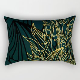 Nested in Gold Rectangular Pillow