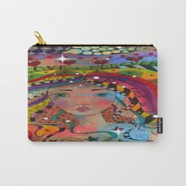 Whimiscal Art Girl Carry-All Pouch