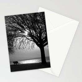 Silver and Silhouettes Stationery Cards