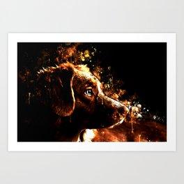 retriever dog ws std Art Print