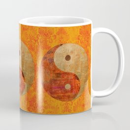 Yin and Yang original collage painting Coffee Mug
