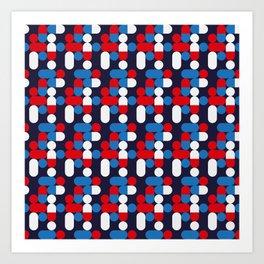Pill Pile Plain 1 Art Print