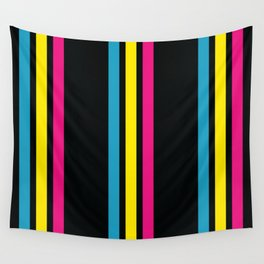 Stripes on Black Wall Tapestry