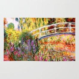 "Claude Monet ""Water lily pond, water irises"" Rug"