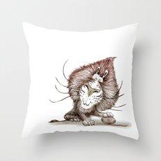 Wanna Play Lion  Throw Pillow