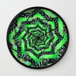 Folding Green Paper into Zigzags Wall Clock