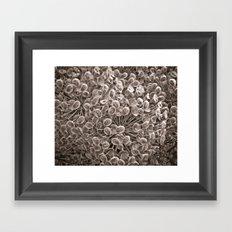 Sepia Nature Pattern Framed Art Print
